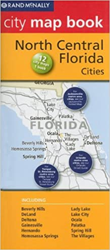 Map Of Central Florida Cities.Rand Mcnally City Map Book North Central Florida Cities Rand