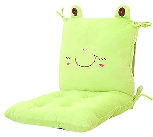 Compressed Frog (ChezMax Rocking Chair Seat Back Stuffed Cushion Pad Set with Ties For Nursery Baby Trottie Nursling Bedroom Green)