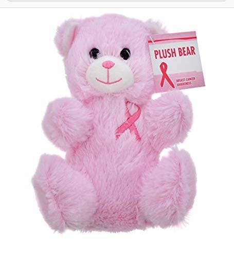 Plush Bear Breast Cancer Awareness Pink, 7 in.