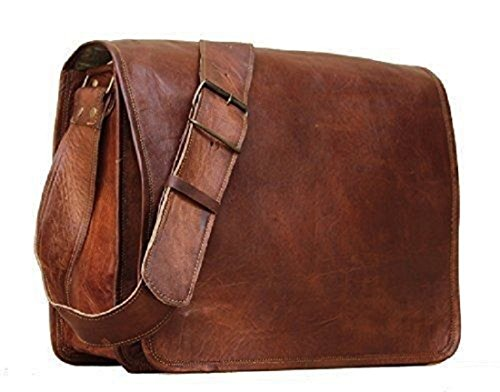 Handmadecraft Classic Leather Messenger Satchel Laptop Leather Bag Leather Messenger Bag