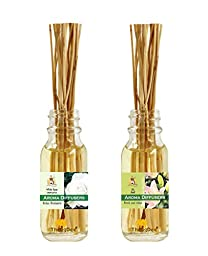ThongDee White Rose and Lilly Floral Reed Diffuser Oils Aromatherapy Set 30ml.