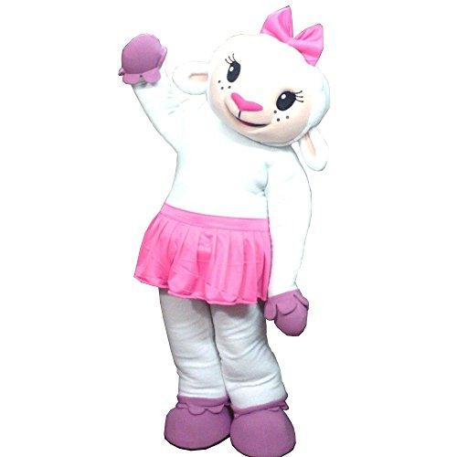(KF Lambie Doc McStuffins Mascot Costume Lamb Sheep Party Adult Halloween)