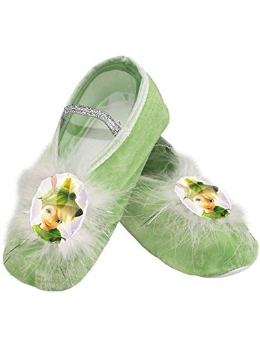 Disney Tinker Bell Girls' Ballet Slippers, One Size