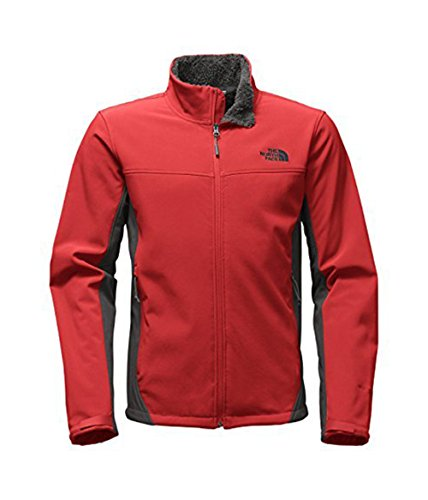 The North Face Apex Chromium Thermal Soft Shell Jacket - X-Large/Cardinal Red-Asphalt Grey