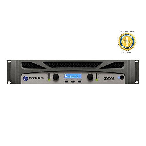 Crown Xti Amps - Crown XTi 4002 Two-channel, 1200W @ 4Ω Power Amplifier with Microfiber and Free EverythingMusic 1 Year Extended Warranty