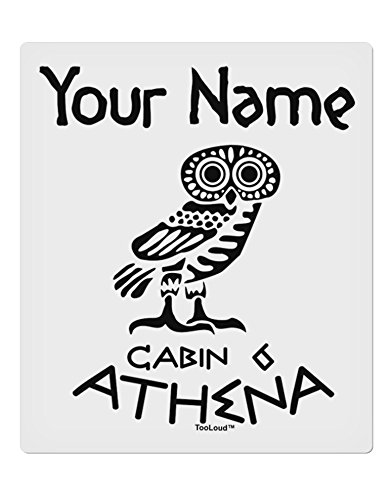 TooLoud Personalized Cabin 6 Athena 9 x 10.5 Rectangular Static Wall Cling