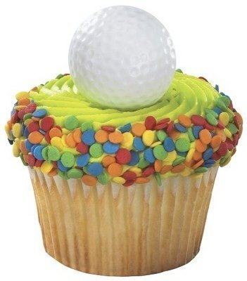 Ball Topper - Golf Ball Cupcake Rings Party Favors (48-Pack)