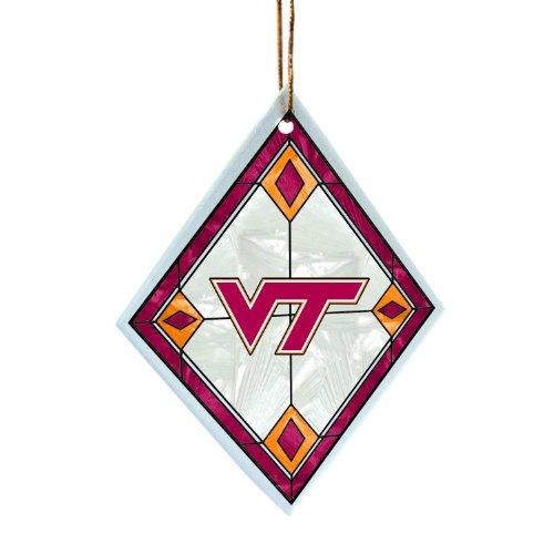 NCAA Virginia Tech Hokies Art Glass Orn-Virginia Tech ()