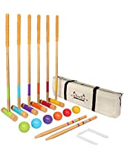 GoSports Standard Croquet Set Includes Six 27