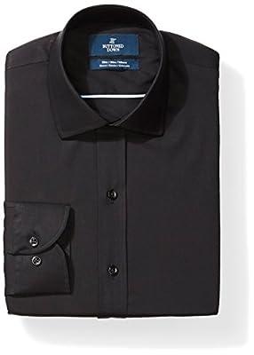 Amazon Brand - BUTTONED DOWN Men's Slim Fit Stretch Poplin Non-Iron Dress Shirt