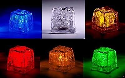 72pcs/lot wedding celebration LED Glow Ice Cubes novelty party Sparkling Ice Without Switch