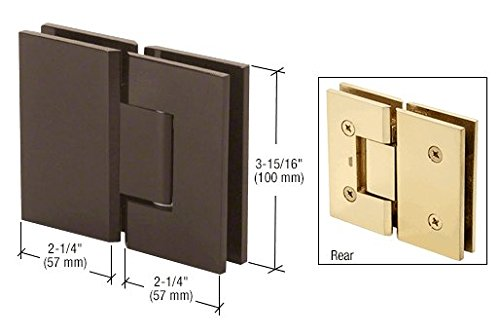 - CRL Vienna 180 Series Oil Rub Bronze Glass-to-Glass Hinge
