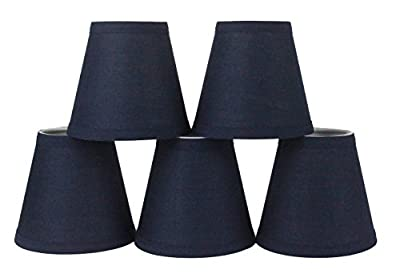 Urbanest Cotton Chandelier Lamp Shade, 6-inch, Hardback, Clip On