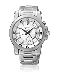 Premier Kinetic Stainless Steel Case and Bracelet Silver Tone Dial Day and Date Displays