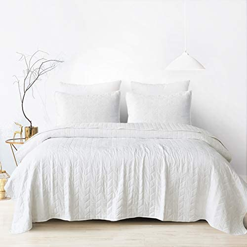 Bedding Bed Cover 3pc Quilted Coverlet Set Stonish Bedspread Stone-Washed
