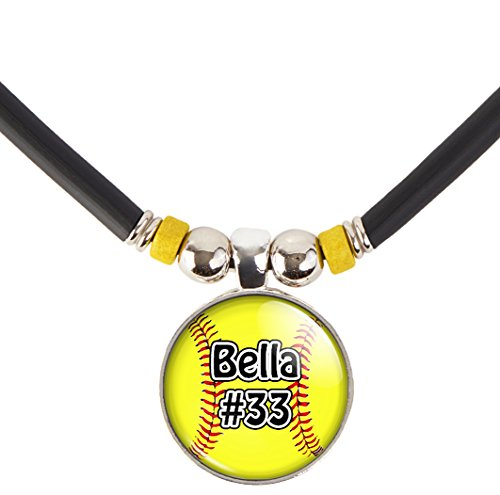 Softball Charm Necklace- Girls and Women