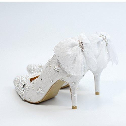 Heel 5 White pour Blanc EU 36 8cm Escarpins Femme Minitoo MZ8300 MinitooEU qUYnv8