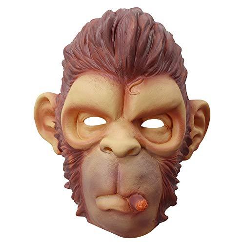 Halloween Costumes Gta (MostaShow Chimpanzee Mask Full Head Latex Animal Monkey Halloween Costume Party)
