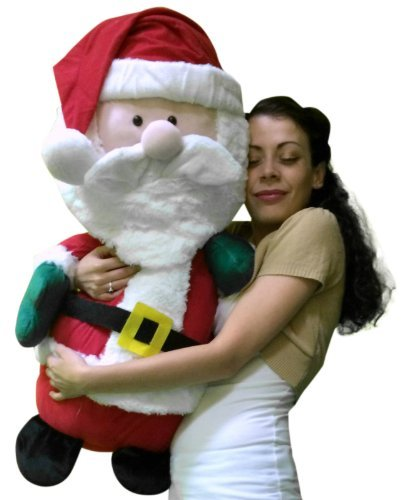 giant stuffed santa claus extra large 32 inches big and plump almost 3 feet tall - Stuffed Santa Claus