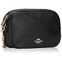 Coach Womens Handbag, Pebbled Leather, Isla Crossbody Bag with Chain