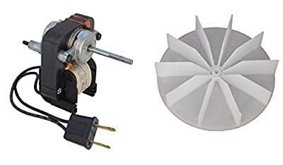 Century Electric Motors C01575 Universal Bathroom Fan Replacement Electric Motor Kit with Fan, 120 volts