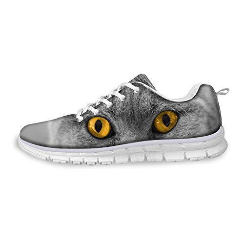 Knuffels Idee Hugsidea Damesmode Casual Sneakers Dieren Bedrukte Sportschoenen Kat