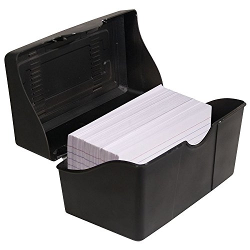 (Advantus 45001 Index Card Box, Plastic, 3