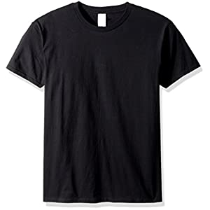 Gildan Adult 5.6 oz 50/50 Short Sleeve T-Shirt in Black - Large