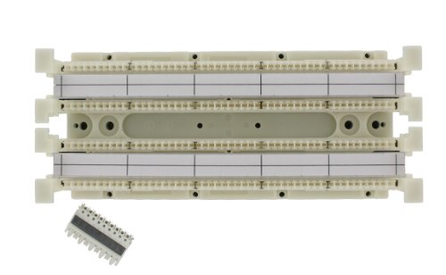 Leviton 41NB2-1F5 GigaMax 5E 110-Style Wiring Block, Wall Mount with Out Legs Kit, Cat 5E with C5S, 100-Pair ()