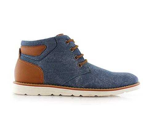 Ferro Aldo Owen Mfa506023 Heren Casual Mid Top Schoen Voor Werk Of Vrijetijdskleding Blue832