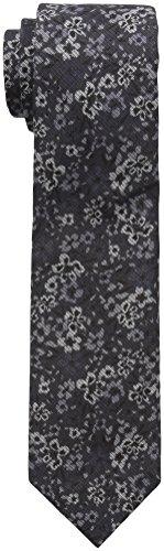 Ben Sherman Men's Londrina Floral Tie, Charcoal, 12