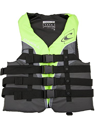 O'Neill Mens Superlite USCG Life Vest XL Lime/Graphite/Smoke/White (4723)