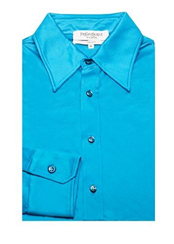 Yves Saint Laurent Men's Soft Viscose Point Collar Dress Shirt - Yves Clothes Laurent Saint