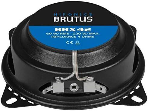 60 Watt Hifonics BRUTUS BRX42 10 cm 2-Wege-Lautsprecher 120 Watt RMS