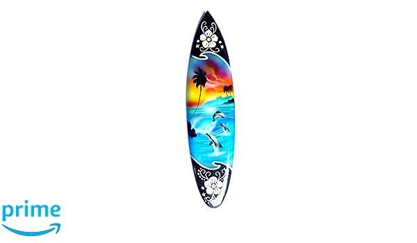 Miniatura dekosurfb oard Surf madera onda Jinete Altura 30 cm, incluye soporte de madera decoración NR 3: Amazon.es: Hogar