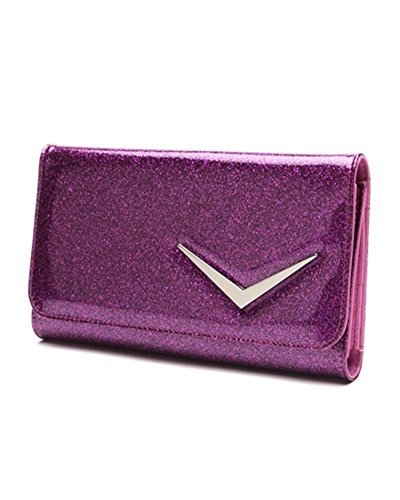 Lux De Ville Getaway Wallet Electric Purple Sparkle Retro (Purses Lux Ville De)