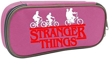 Estuche de lona para lápices con logo de Stranger Things de CICICCO, duradero, con cremallera: Amazon.es: Oficina y papelería