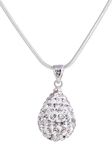 silver-with-diamond-teardrop-shaped-pendant-necklace