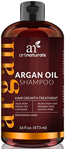 Art Naturals Organic Argan Oil Hair Loss Shampoo for Hair Regrowth 16 Oz – Sulfate Free – Best Treatment for Hair Loss, Thinning & – Growth Product For Men & Women – Infused with Biotin – 2016