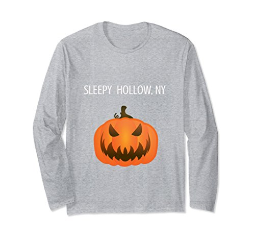Unisex Sleepy Hollow New York Jack O' Lantern Long Sleeve Shirt Medium Heather -