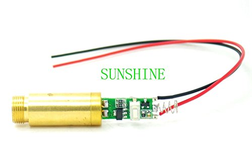 405nm 50mW Violet/Blue Diode Laser Dot Module w/Cable 12x60mm