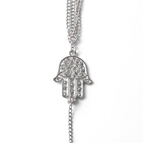 Silver Hamsa Charm Bracelet Mothers