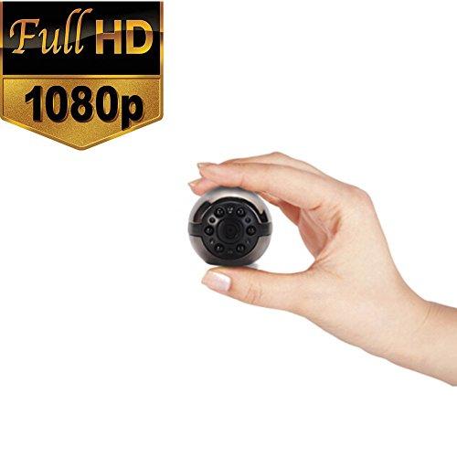 Mini Spy Hidden Camera, SQ9 1080P/720P Full HD 6 LED Infrared Night Vision Motion Detection Portable Spy Camera Home Surveillance Camera Nanny Cam secret camera security cameras home security cameras (Led Infrared 6 Vision Night)