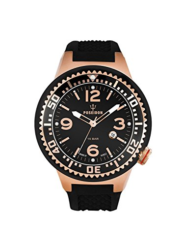 Kienzle Poseidon Men's S Slim Watch - Black & Rose Gold