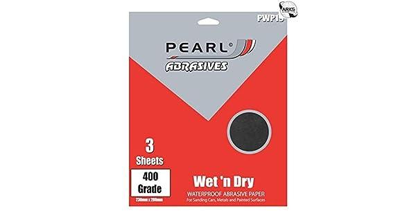 3/piezas Pearl pwp19/Wet//Dry papel P400/grado