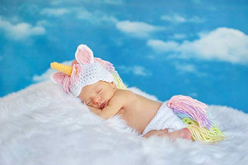 Baby Crochet Outfits Infant Handmade Costume Knit Photography Clothes Cute Photo Prop Hat Cap Unisex Girl Boy Set -