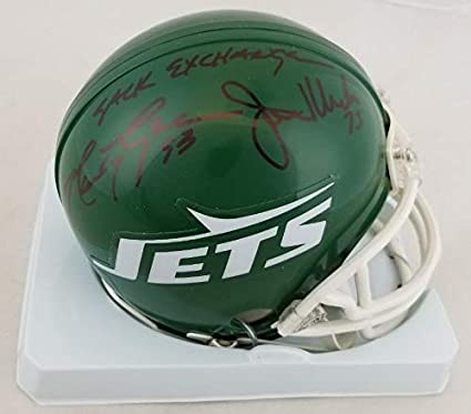 Image Unavailable. Image not available for. Color  New York Jets Sack  Exchange Autographed Signed ... 6533214b4