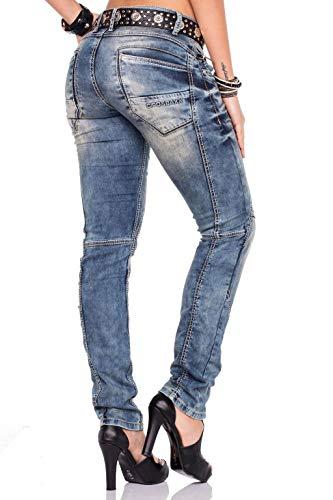 Donna Normale Jeans Bundle amp; Schwarzem Mit Baxx Gürtel Cipo qzxtaIq