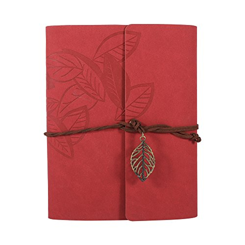 Artificial leather Cover Retro Photo Album DIY Gift Red - 5