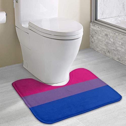 casually Bisexual Funny Bath Mat Toilet Carpet Doormats Floor Rugs for Bathroom Toilet 19.2″x15.7″